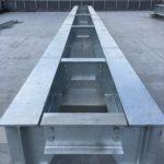 空調メッキ鉄骨架台