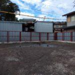 安全鋼板の塀